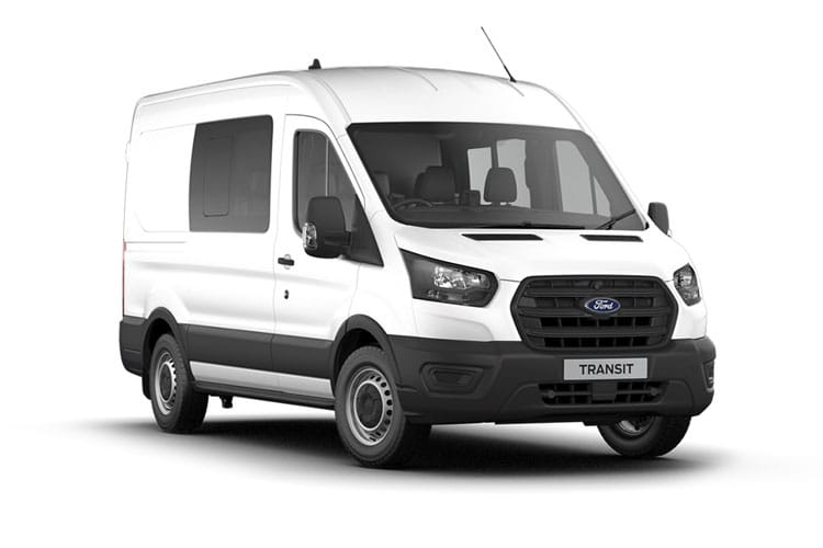 Ford Transit 350 L3 2.0 EcoBlue FWD 170PS Trend Crew Van Medium Roof Auto [Start Stop] [DCiV] front view